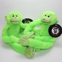 Green two pack plush medical monkeys for charity