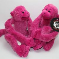 pink two pack plush medical monkeys for charity