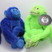 blue green two pack plush medical monkeys for charity