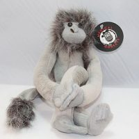 grey pluch medical monkey