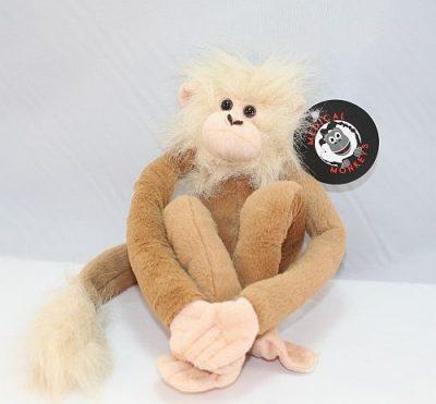 tan plush medical monkeys for charity