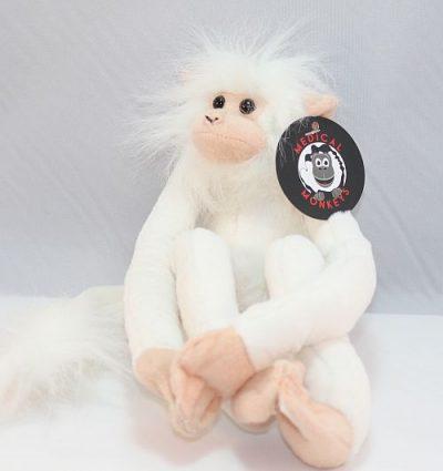 white plush medical monkeys for charity