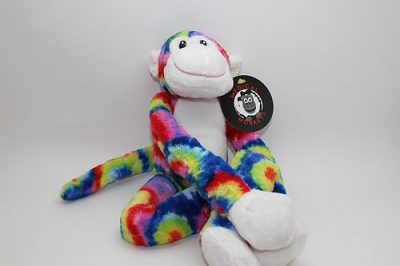 tie dye plush medical monkeys for charity