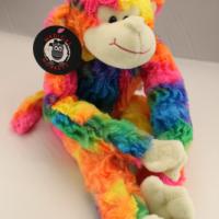 Rainbow plush medical monkey for charity